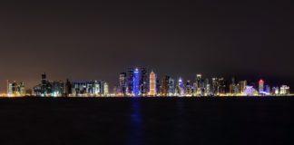 Doha foto nottura libera da diritti