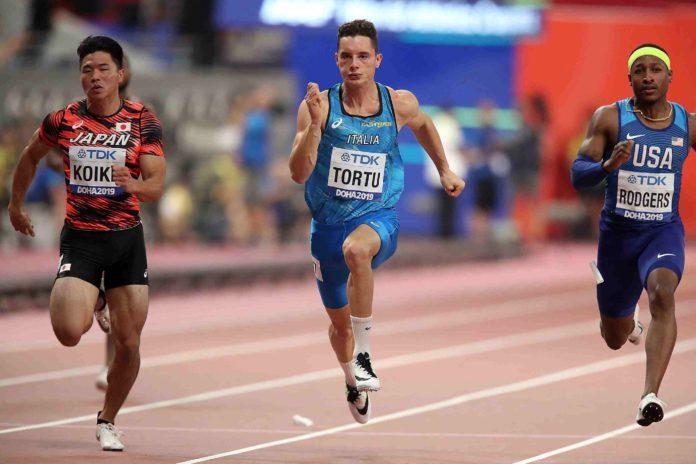 Filippo Tortu Doha 2019 (Foto Colombo Fidal)