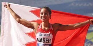 Salwa Naser festeggia la vittoria. Foto EPA/SRDJAN SUKI