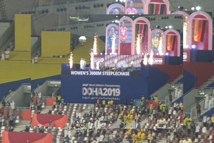 Podio 3000 siepi w Khalifa Stadium Doha (Foto Sprint Academy)
