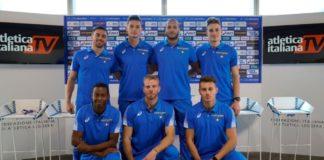 Squadra azzurra staffetta Doha 2019 (Foto Bizzotto Fidal)