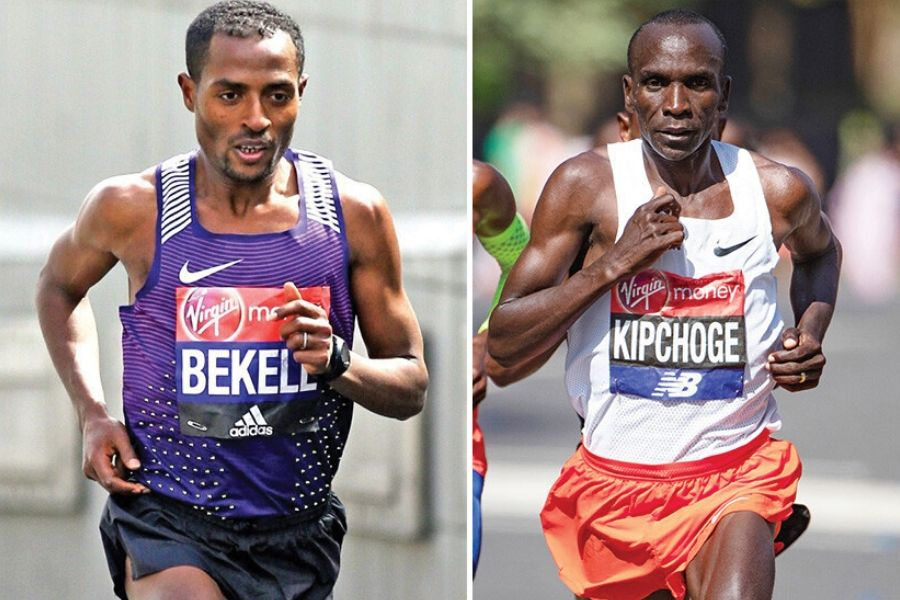 Kenenisa Bekele - Eliud Kipchoge (foto Athletics Weekly)