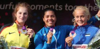 Carolina Visca - podio europei under 20 (foto personale)