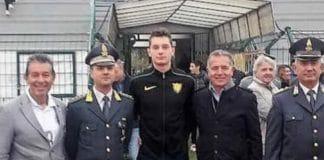 Filippo Tortu - inaugurazione pista stadio Coccia (foto Unione Sarda)