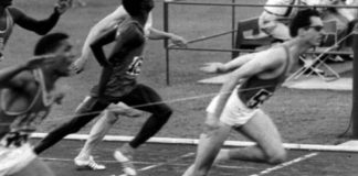 Arrivo 200 metri Olimpiadi Roma 1960 (foto archivio)