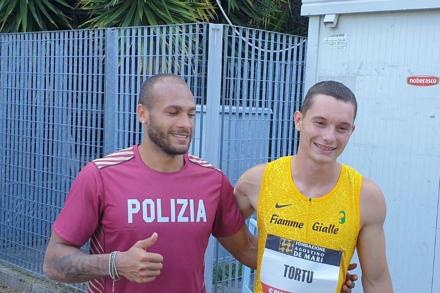 Marcell Jacobs-Filippo Tortu (foto SprintAcademy)