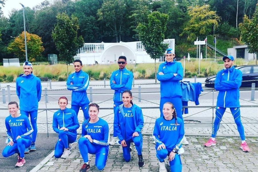 La squadra azzurra (foto FIDAL)