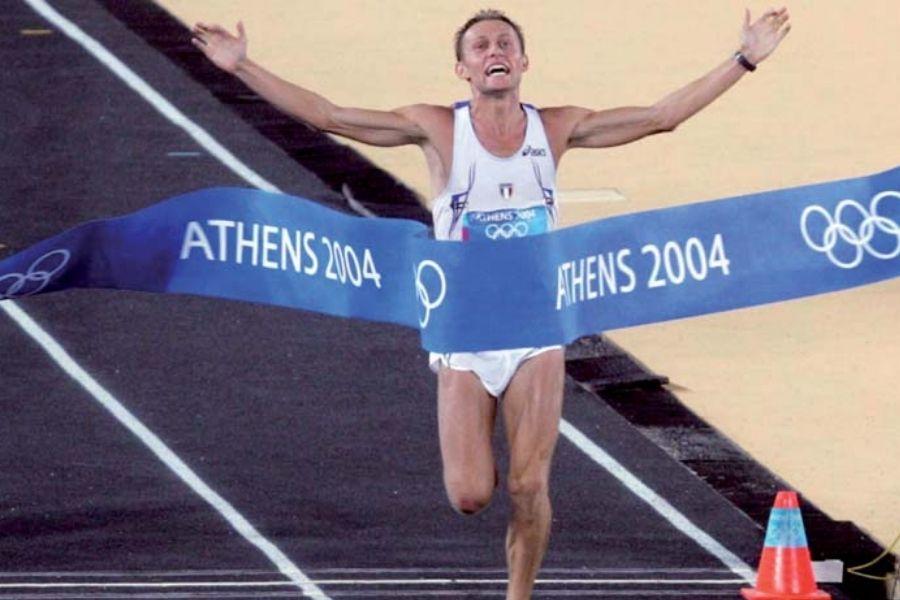 Stefano Baldini - Atene 2004 (foto Giancarlo Colombo)