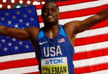 Christian Coleman (foto The Guardian)