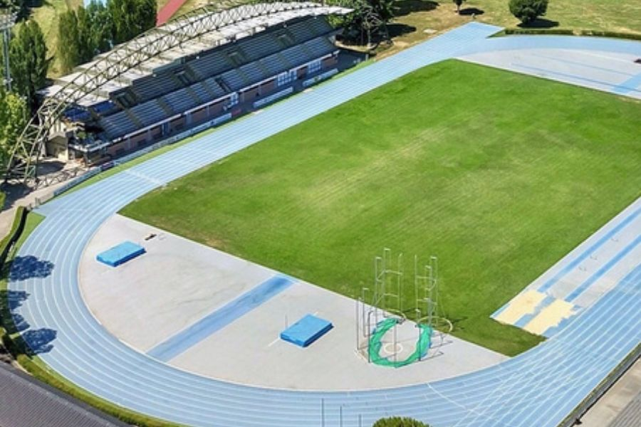 Stadio Raul Guidobaldi Rieti (foto aerea)