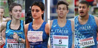 Mattevi-Pieroni-Dester-Ferrara (foto FIDAL)