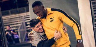 Diego Maradona - Usain Bolt (foto pagina facebook Bolt)