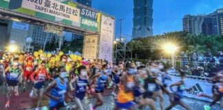 Maratona Taipei (foto CNA)