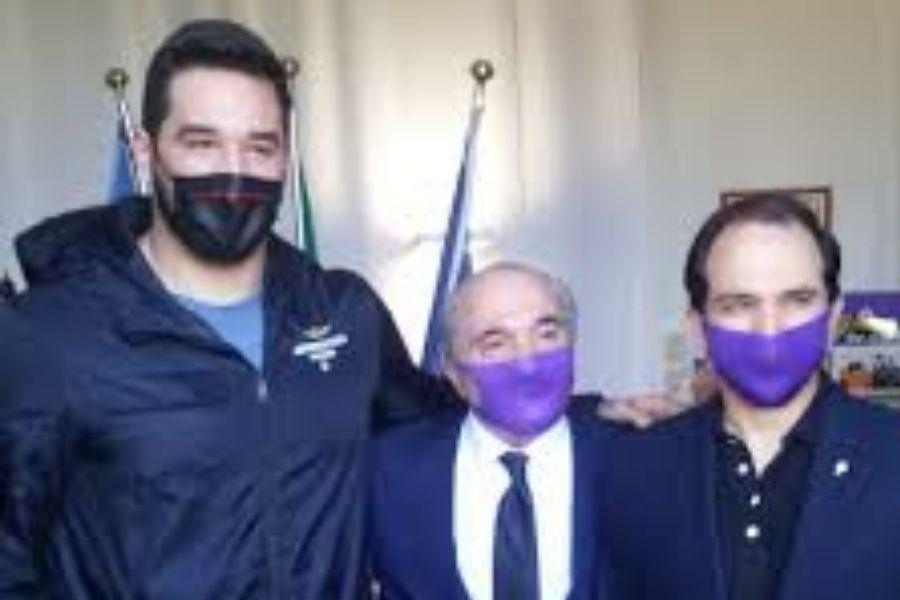 Leonardo Fabbri-Rocco Commisso (foto Fiorentina news)