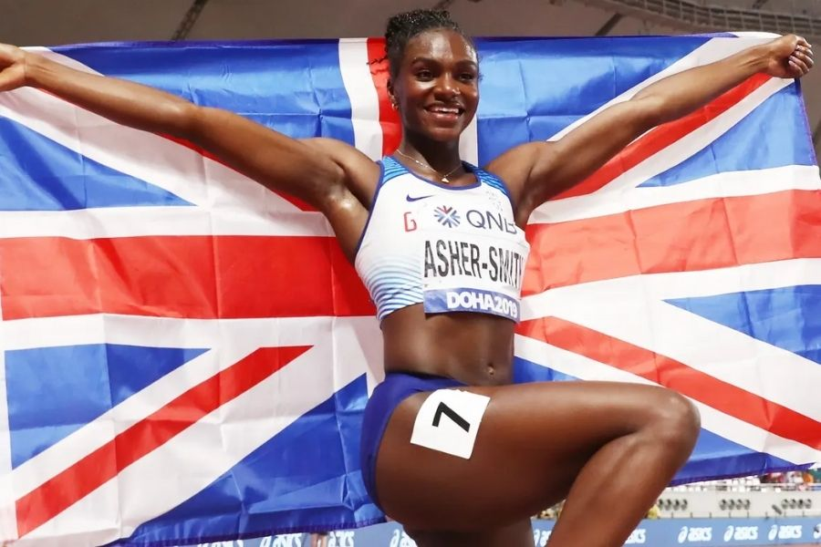 Dina Asher-Smith (foto The Guardian)