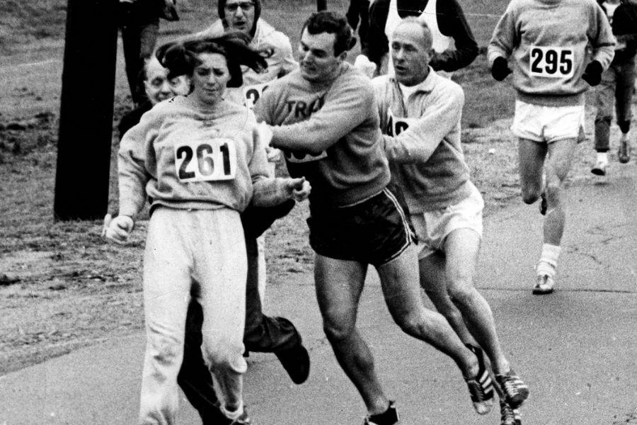 Kathrine Switzer (foto Harry Trask maratona Boston 1967)