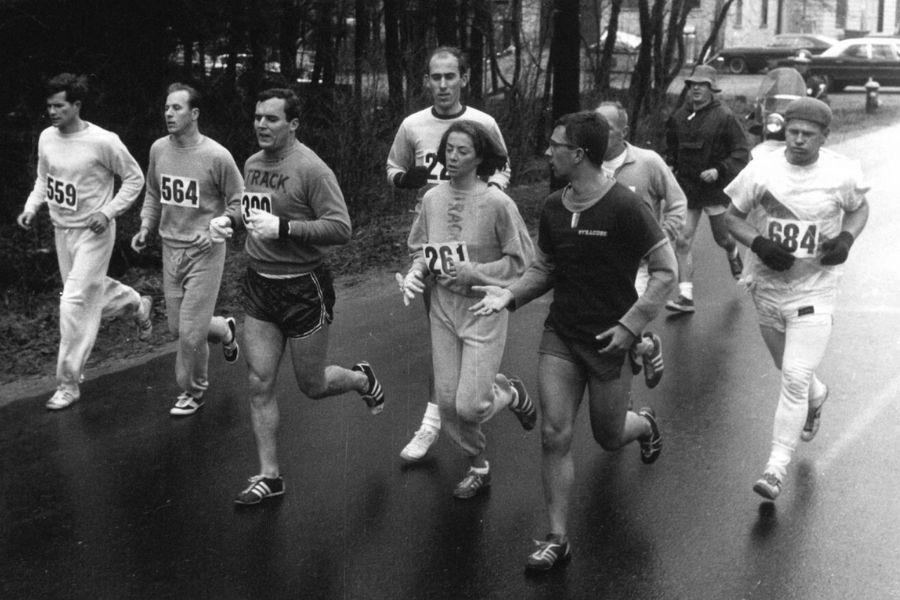 Kathrine Switzer (foto archivio storico maratona Boston 1967)
