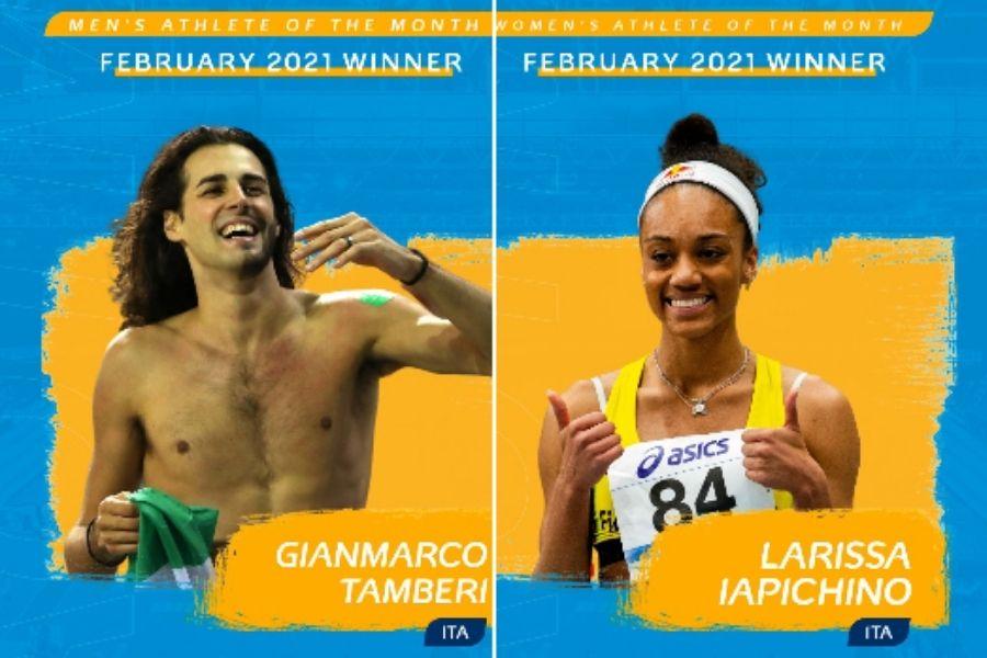 Gianmarco Tamberi-Larissa Iapichino (foto European Athletics)
