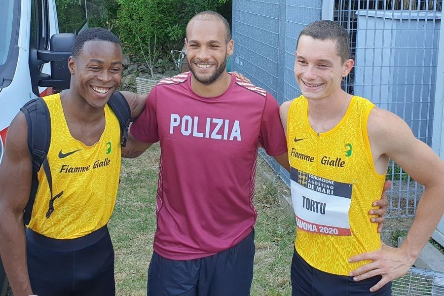 Fausto Desalu-Marcell Jacobs-Filippo Tortu (foto SprintNews.it)