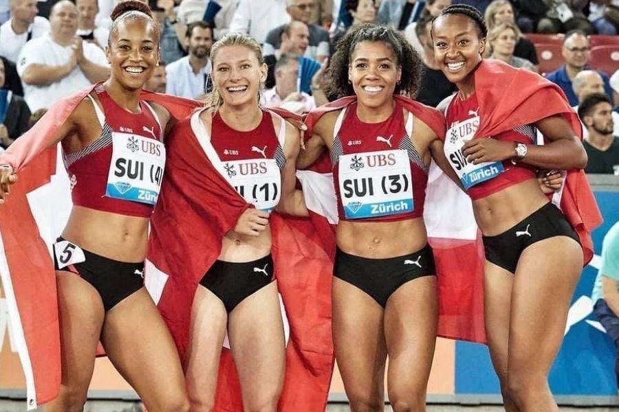 Staffetta 4x100 svizzera (foto World Athletics)