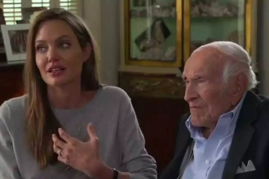 Angelina Jolie-Louis Zamperini (foto archivio)