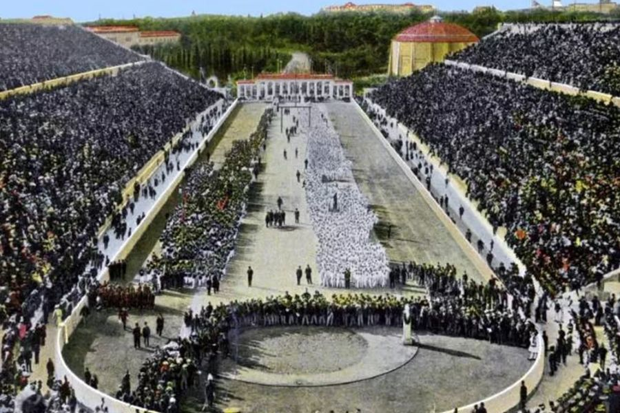 The Panathinaiko stadium in Athens, home of the 1896 Olympics (Foto Imago)