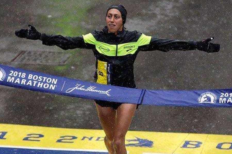 Desiree Linden (foto archivio maratona Boston)