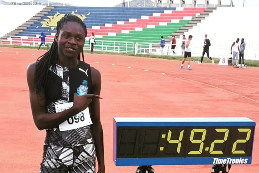 Christine Mboma (foto campionati nazionali namibiani)