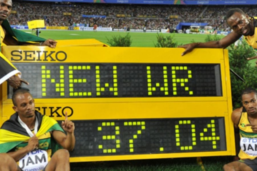 Staffetta giamaicana primatista del mondo (foto world athletics)
