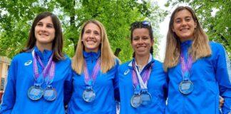 Barcella, Curiazzi, Giorgi, Foresti: le ragazze d'oro della 35 km (foto FIDAL)