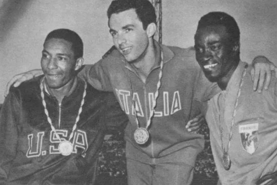 Livio Berruti (foto archivio podio Olimpiadi Roma 1960)