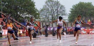 Arrivo 100 metri Gateshead (foto World Athletics)