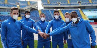 4x100 azzurra maschile (foto Colombo/FIDAL)
