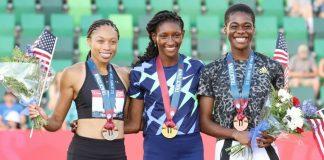 Podio 400 femminile Trials USA (foto organizzazione)