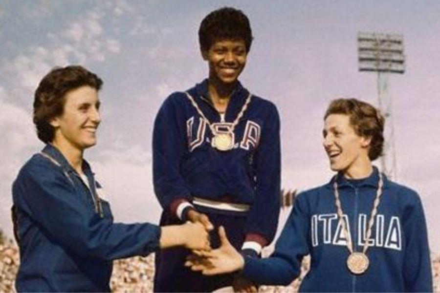 Podio olimpico 100 metri femminili Roma 1960 (foto archivio FIDAL)