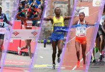 Arrivi maratone (foto World Athletics)